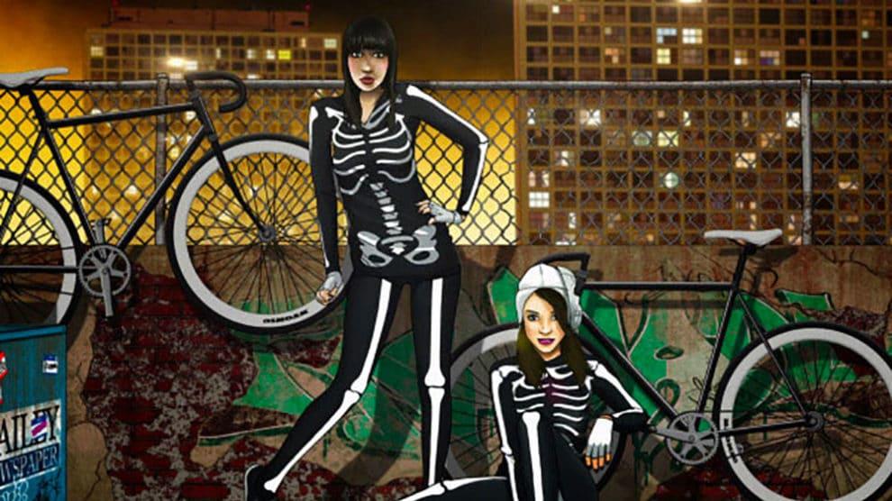 L'llustrateur Halfanese, des filles et des vélos