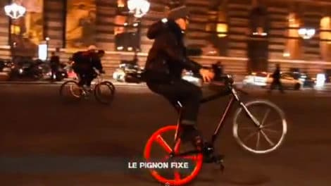 Chouette vidéo souvenir, vélo à pignon fixe, qu'est-ce que c'est ?