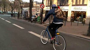 Vidéo Paris Vision, ballade en fixie