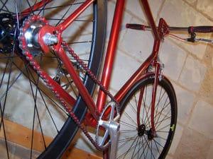 Le fixie Motobécane rouge de Guillaume