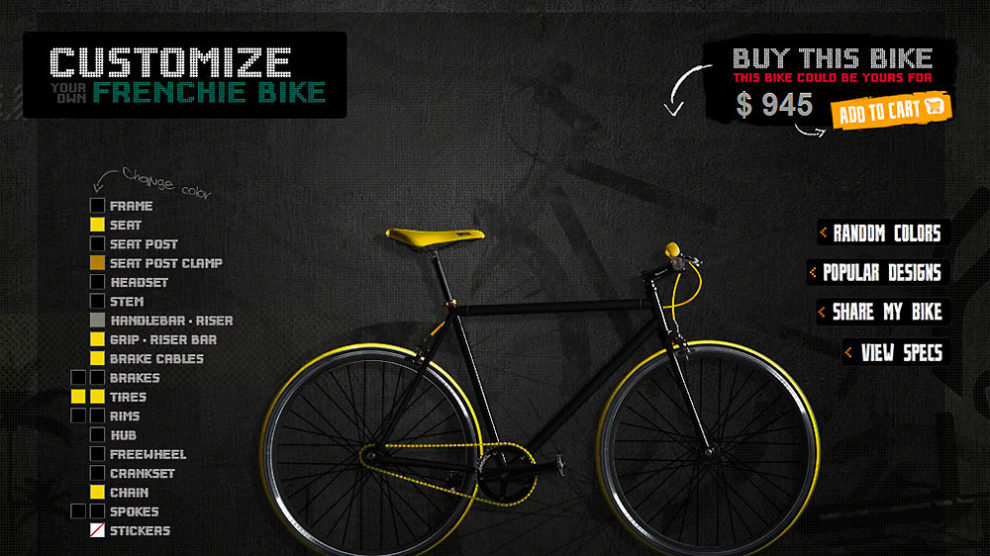 Atom Bicycles vous aide à customiser votre fixie
