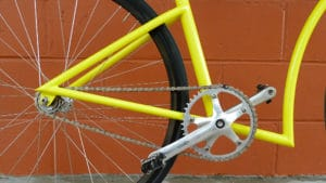 Très beau fixie jaune Pops Fabrication Model 8