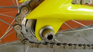 Très beau fixie jaune Pops Fabrication Model 8