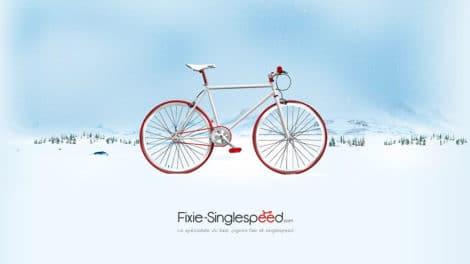 Un wallpaper ou fond d'écran fixie-singlespeed.com pour Noël