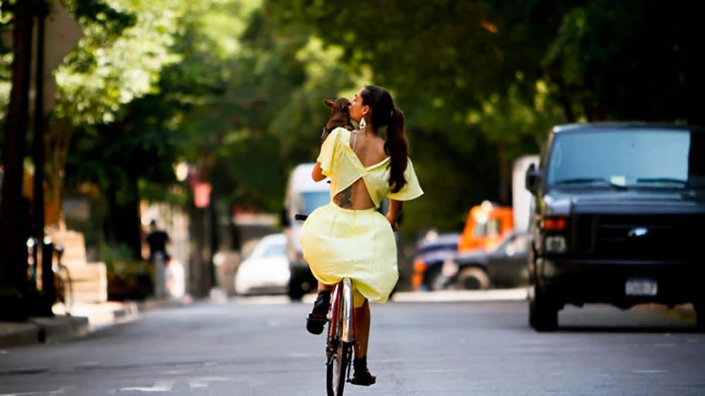 Down Town from Behind photos de cyclistes à New York