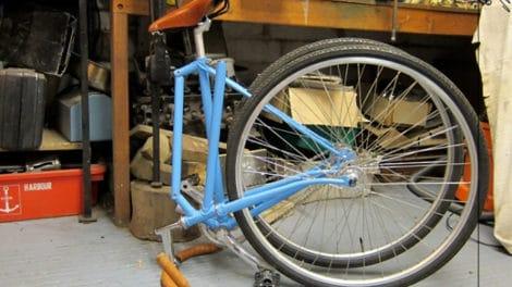 Blue Folding Bike, un fixie pliable et transportable partout