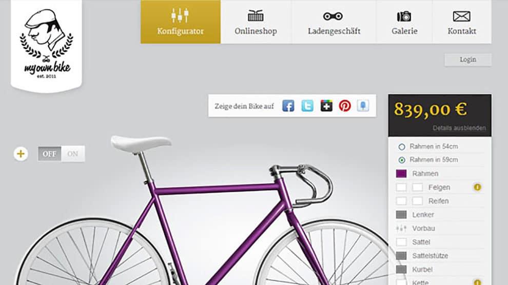 My Own Bike, une web marque allemande de fixie