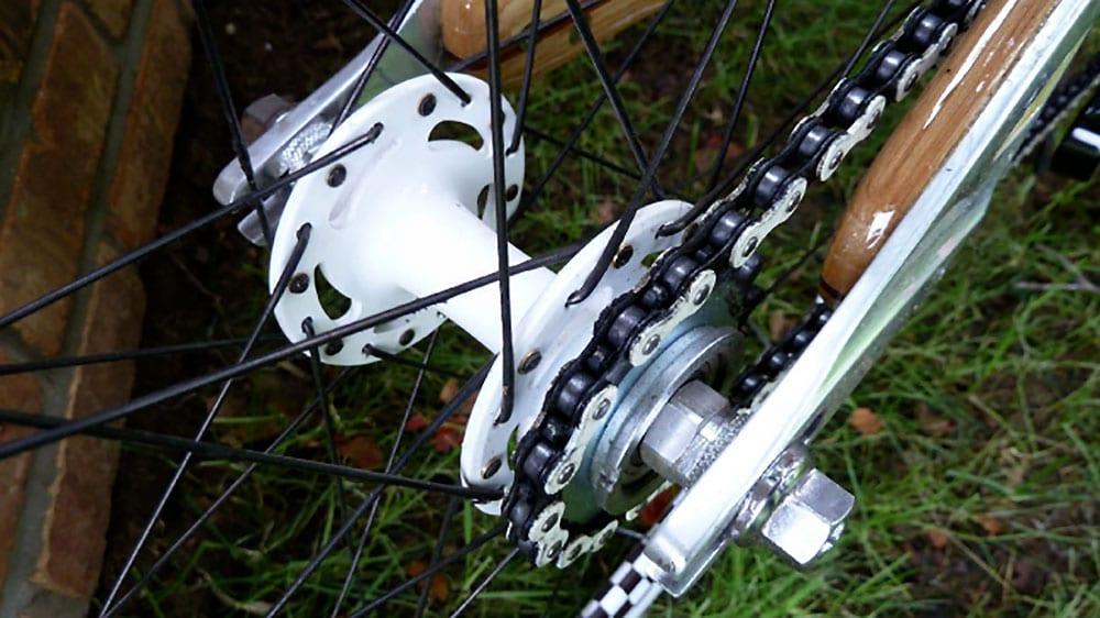 Wood fixed bike de mister Ken Stolpmann