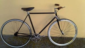 Singlespeed vintage sur base de vélo LeJeune