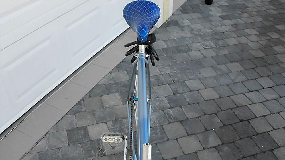 Le pignon fixe autrichien bleu de Yann