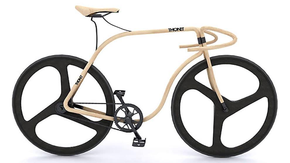 Thonet Bike, un fixie concept tout en bois !