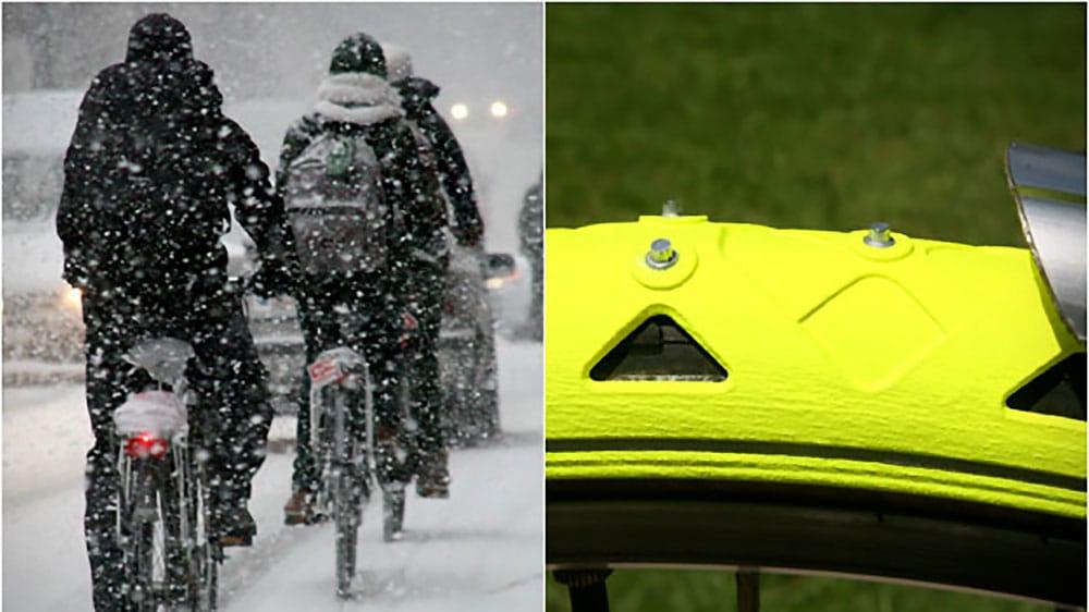 Rouler dans la neige avec Bike Spikes de Cesar Van Rongen
