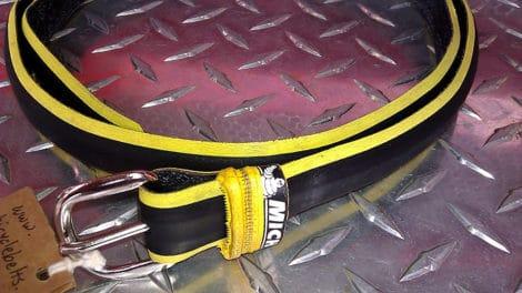 Des ceintures en pneus de vélos, une bonne idée !