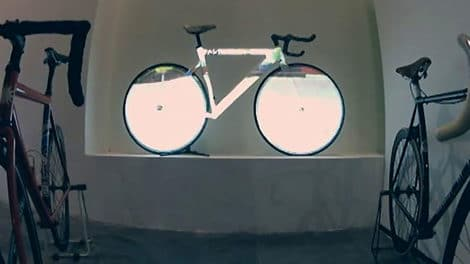 Projection Mapping on Fixed Gear Bike