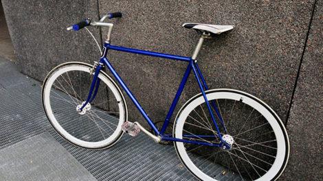 Singlespeed fixie urbain flip/flop bleu métalique