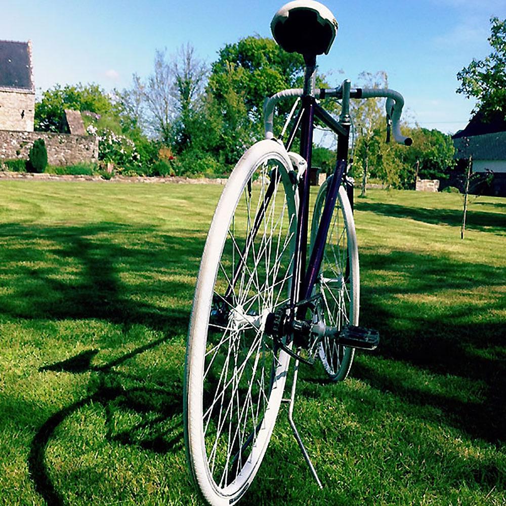 Un vieux vélo de course devenu un singlespeed stylé !