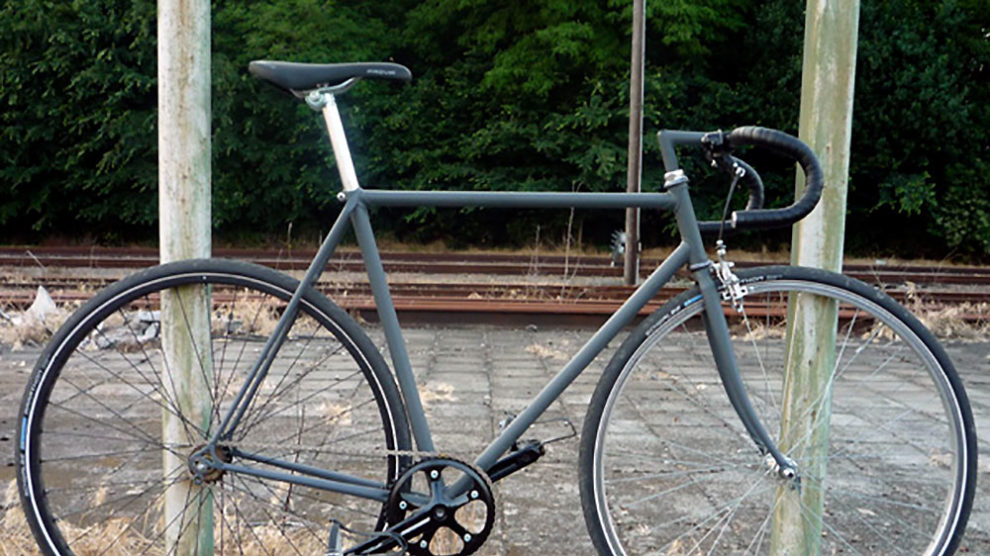 Vélo singlespeed Black & Grey made in Belgique