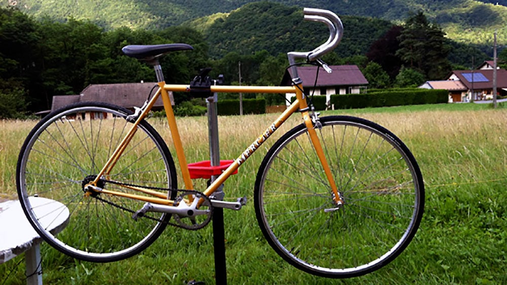 Singlespeed Mercier sur base d'un vélo de course classique