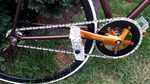 Singlespeed normand sur base d'un vélo de course Décathlon !