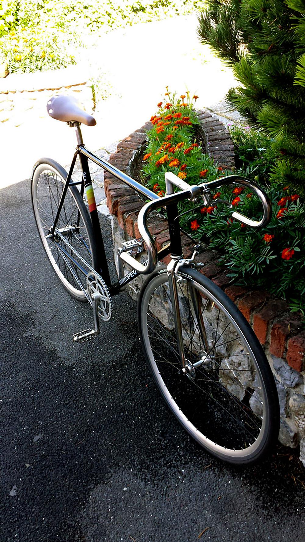 Vélo urbain Peugeot singlespeed à rétropédalage !