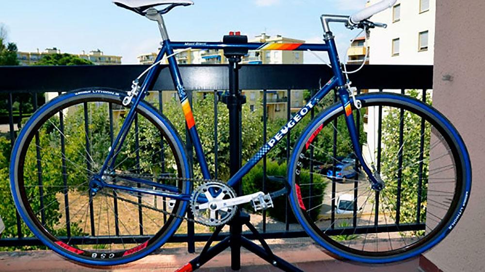 Single speed Peugeot Mont Blanc bleu