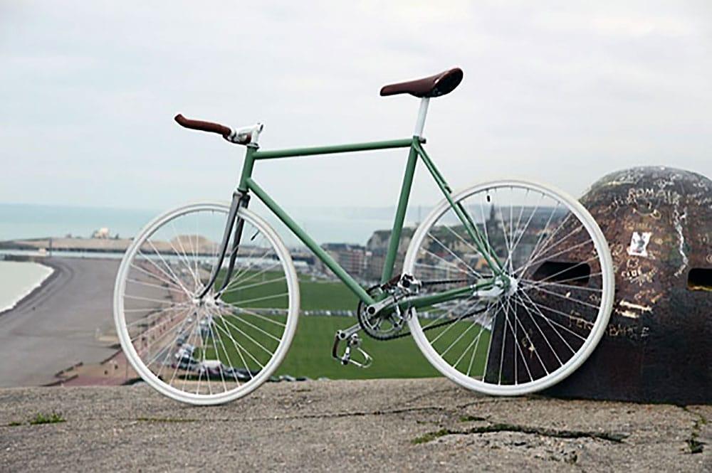 Un vélo singlespeed à retropédalage Dieppois
