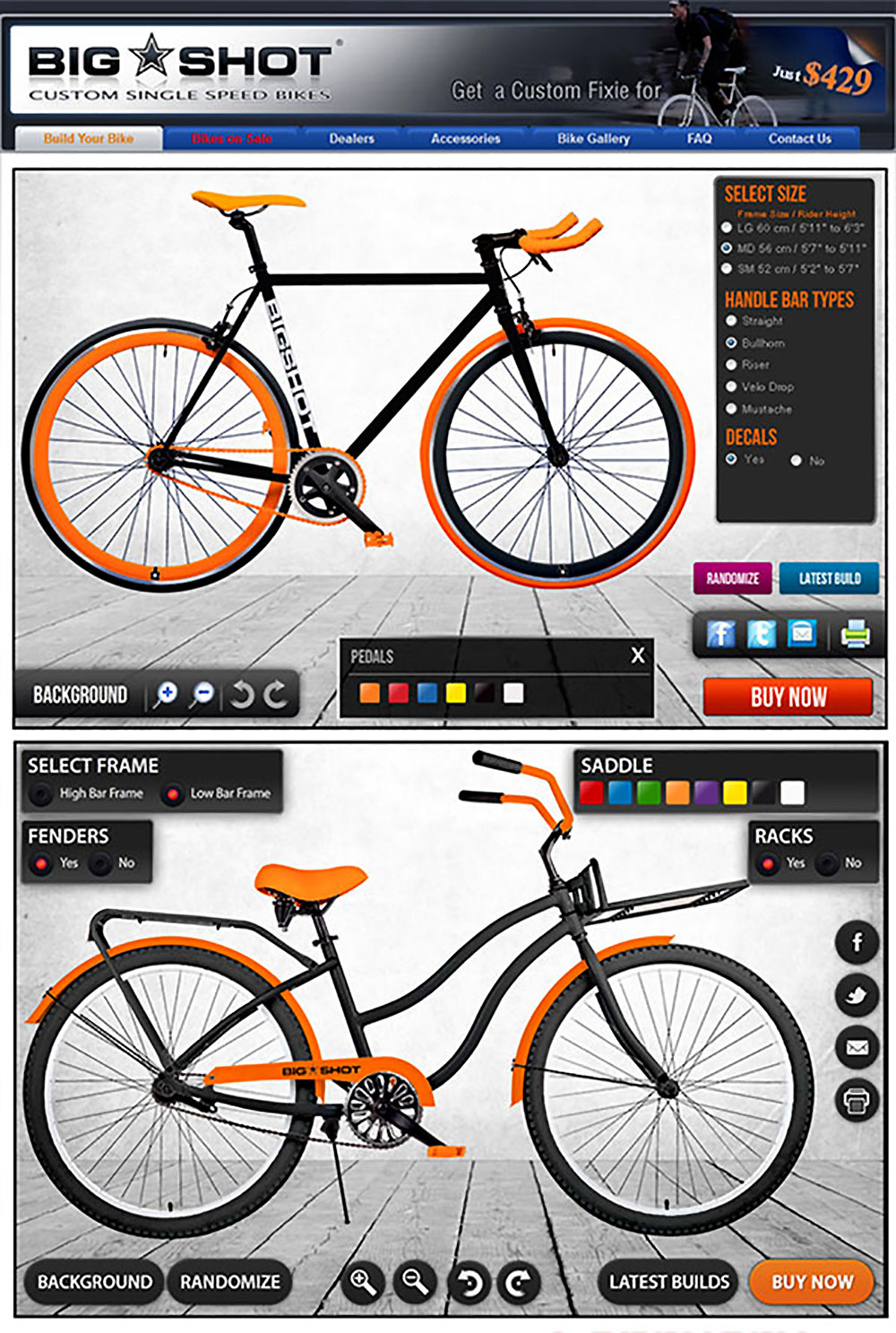 Les configurateurs de customisation vélo fixie singlespeed