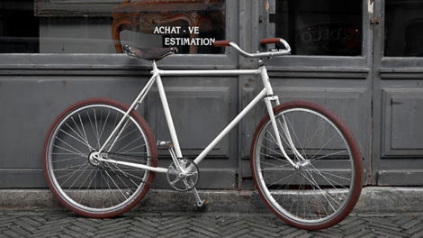 Vélo singlespeed rétropédalage Garin des années 30 !