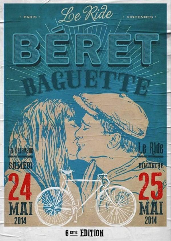 Le ride Béret Baguette, les 24 et 25 mai 2014 à Paris