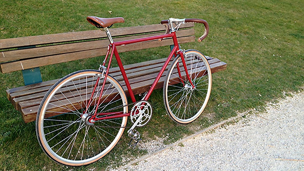 Conversion d'un vélo de course Lejeune en singlespeed