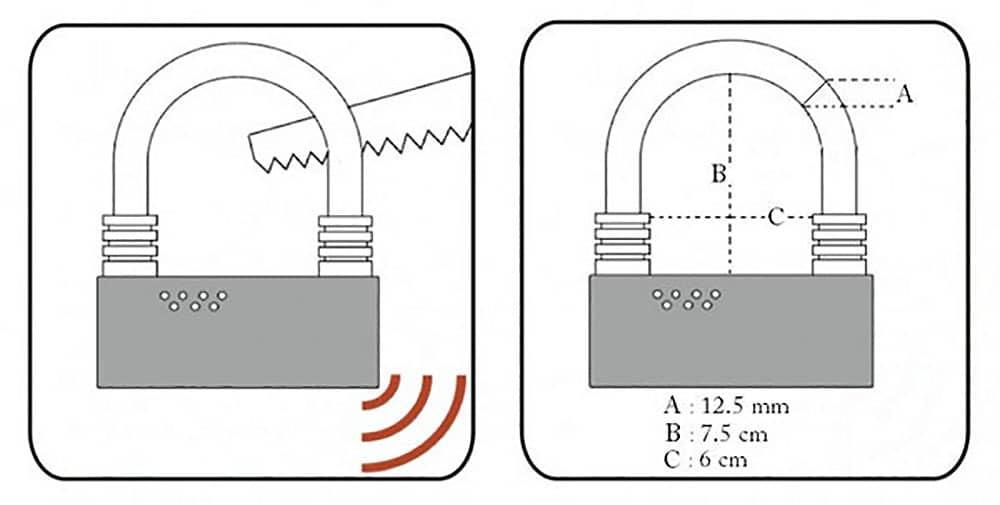 Le nouvel Antivol U Lock Alarm avec alarme 100dB
