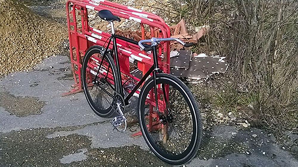 Vélo singlespeed sur la base d'un Joaquim Agostinho