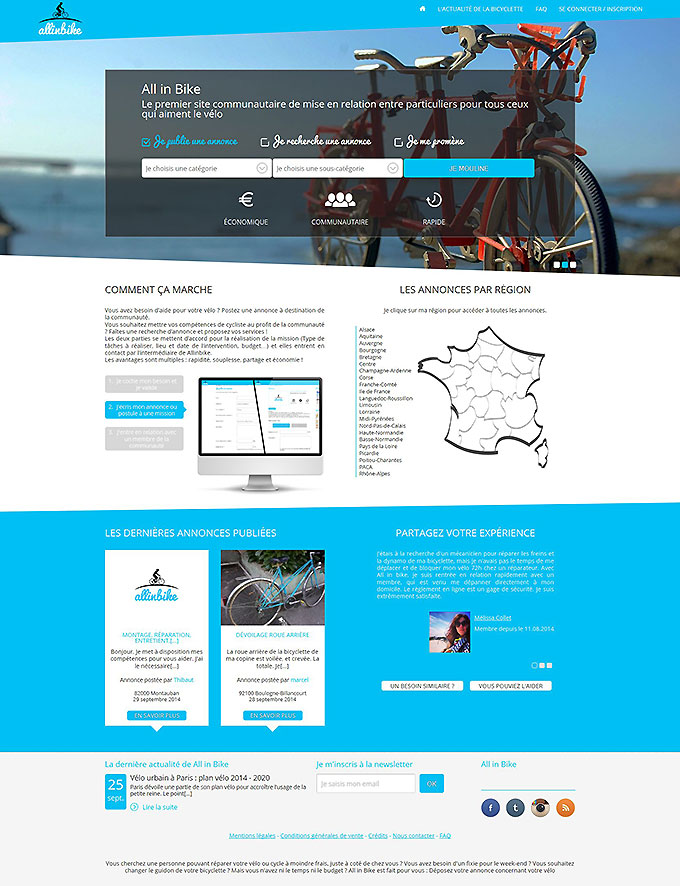 All in Bike, premier site communautaire des cyclistes