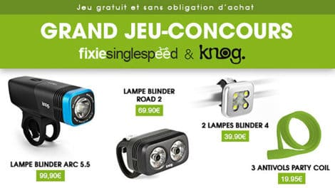 Nouveau jeux-concours Knog & Fixie Singlespeed