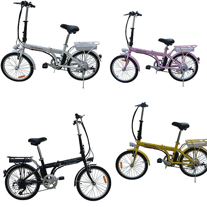 Vélo électrique urbain et pliant de chez Vélobécane