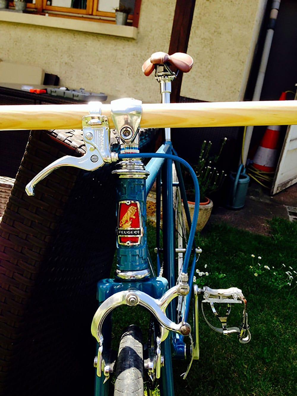 Jeannot, un vieux vélo Peugeot mis à la mode singlespeed