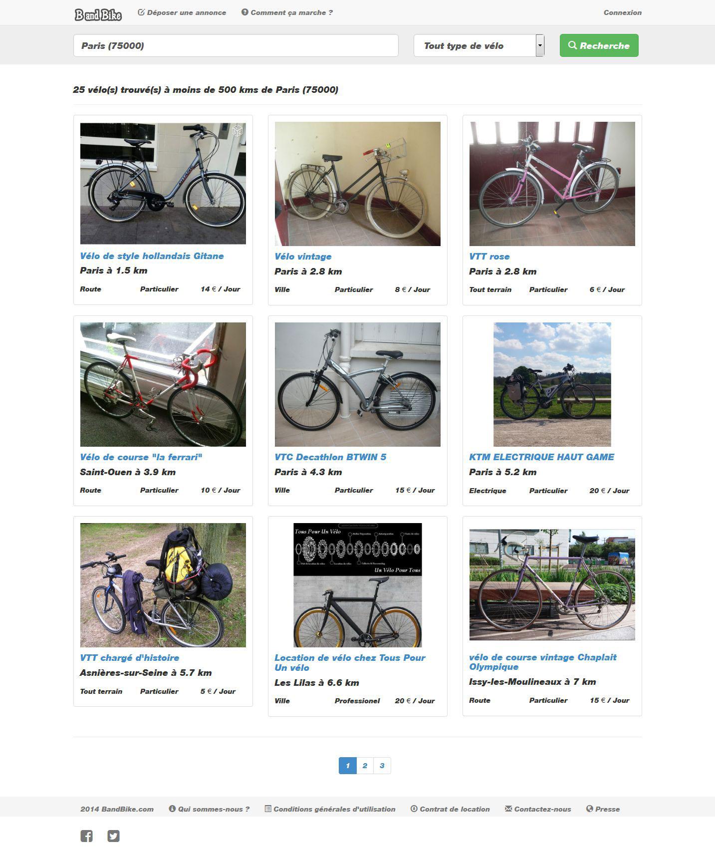 Louez ou mettez votre vélo en location avec B and Bike