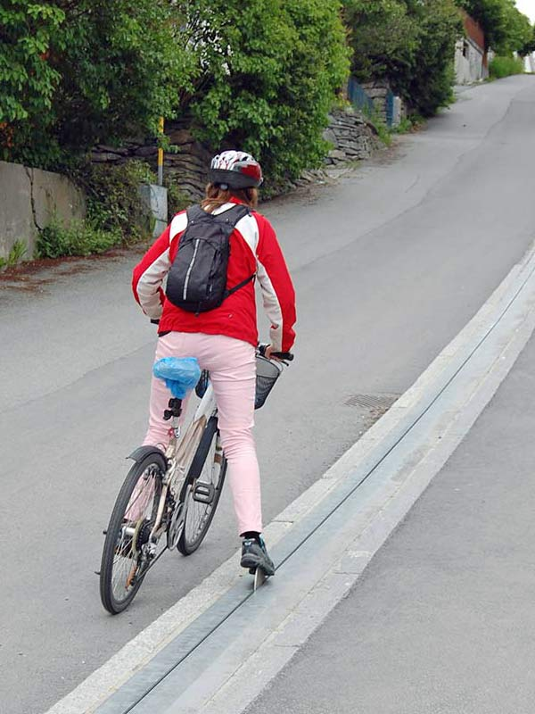 CycloCable de Brubakken Hil, le premier ascenseur à vélo