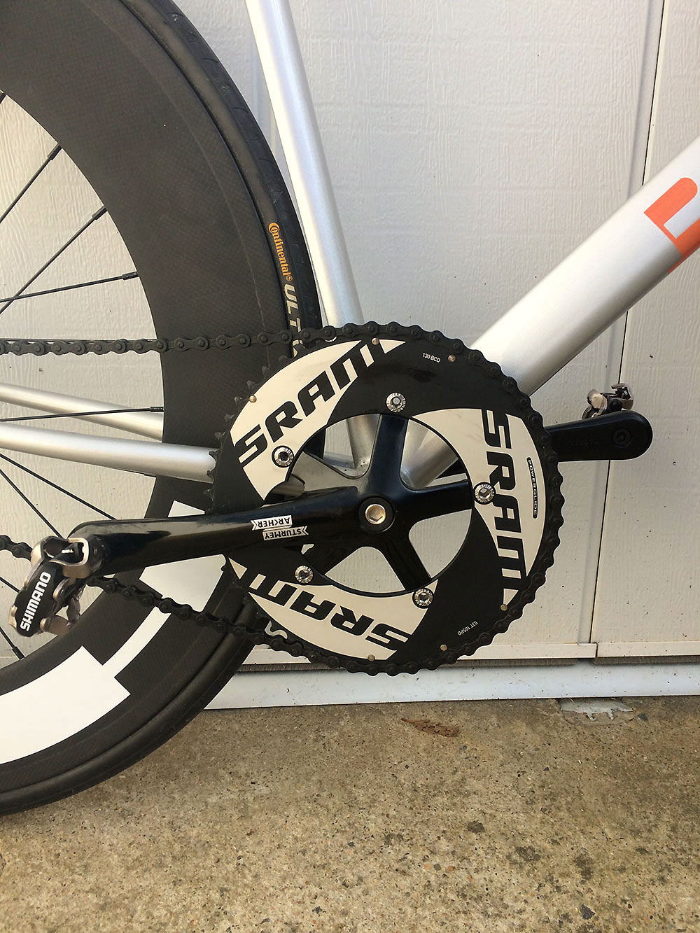 "Vélo fixie avec cadre artisanal Victoire et Blacsheep "" The Beast"""