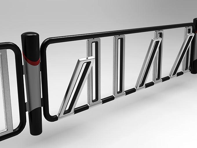 La barrière urbaine qui se transforme en parking à vélo !