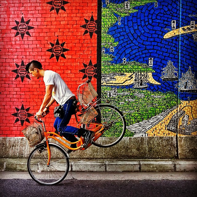 Riding Pop, série de  photos Instagram sur le vélo urbain