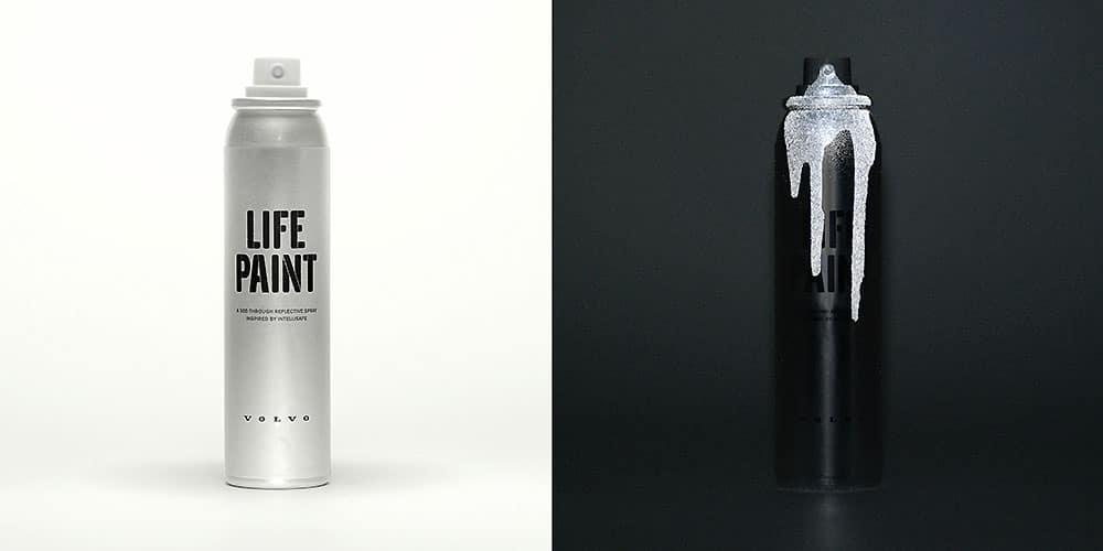 La campagne vélo innovante Volvo Life Paint Campaign