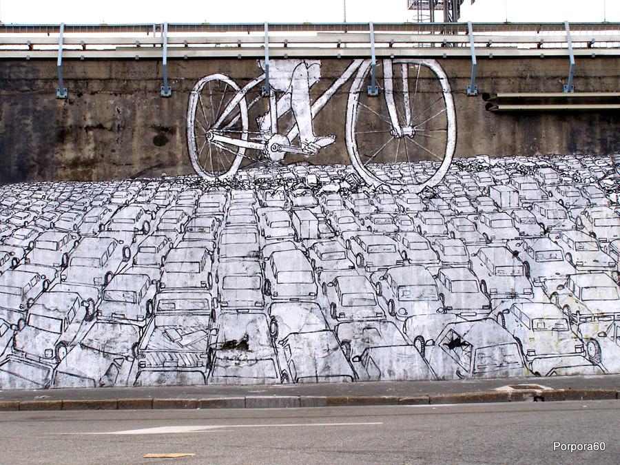 Quand le vélo urbain croise l'art urbain, ça ne fait qu'un !
