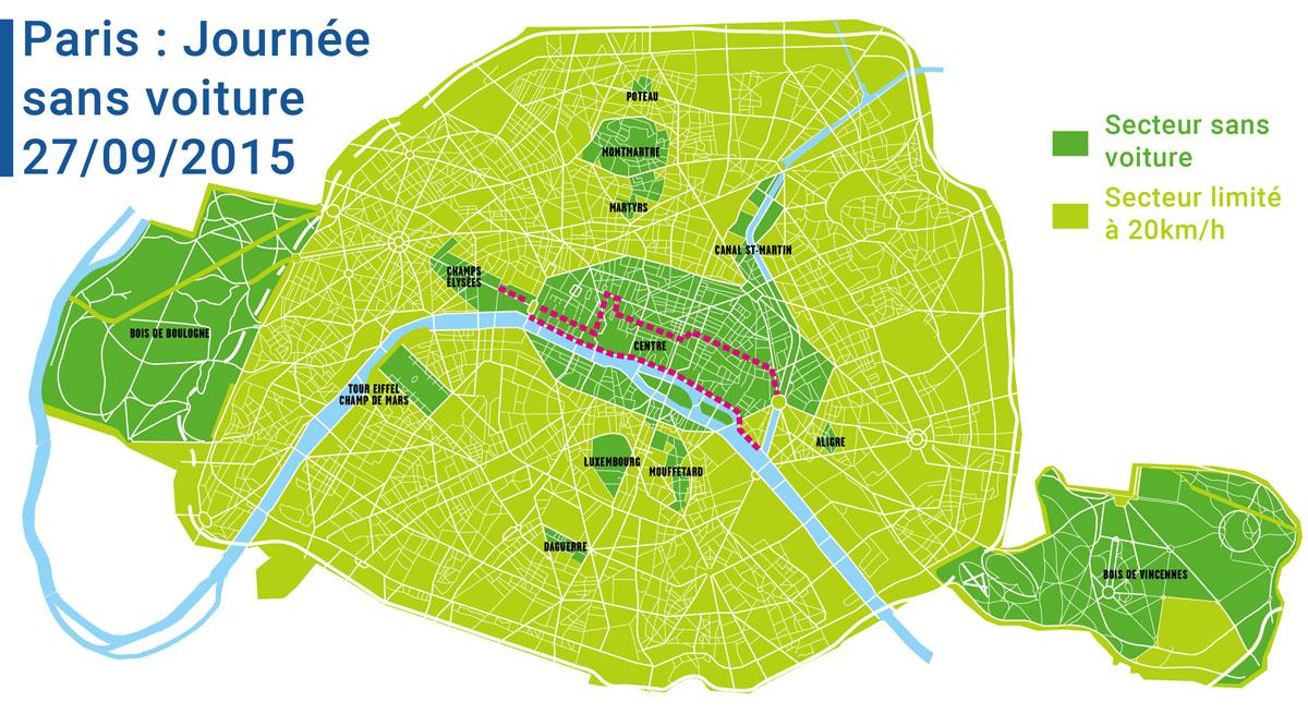 Le 27 septembre 2015, vivez Paris sans voiture et en vélo