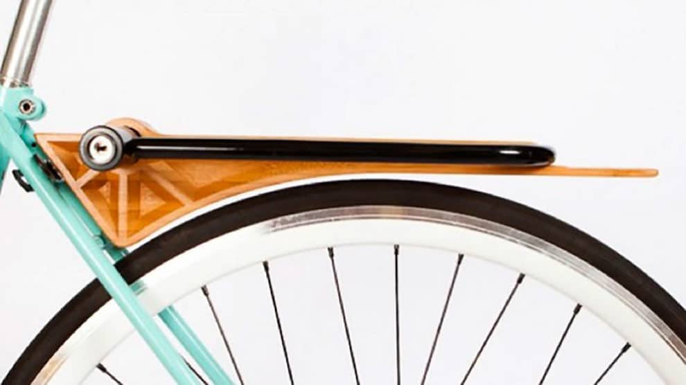 Le garde-boue vélo porte-bagages en bois Slim de Ruphus