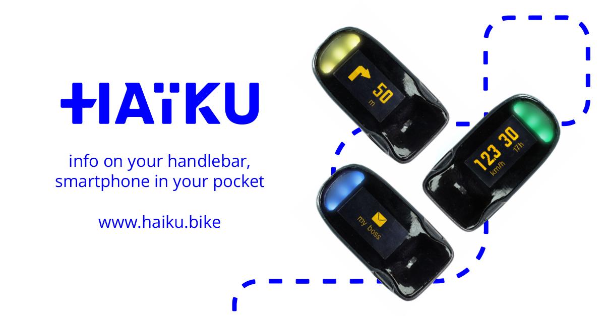 Haïku, le GPS connecté pour cyclistes urbains