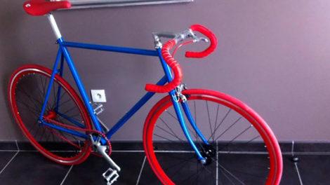 """Le vélo pignon fixe Raleigh Challenger """"flashy"""" de Jérôme"""