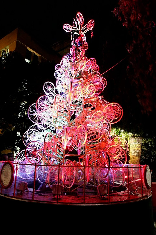 Photos et illustrations sur le thème de Noël à vélo !