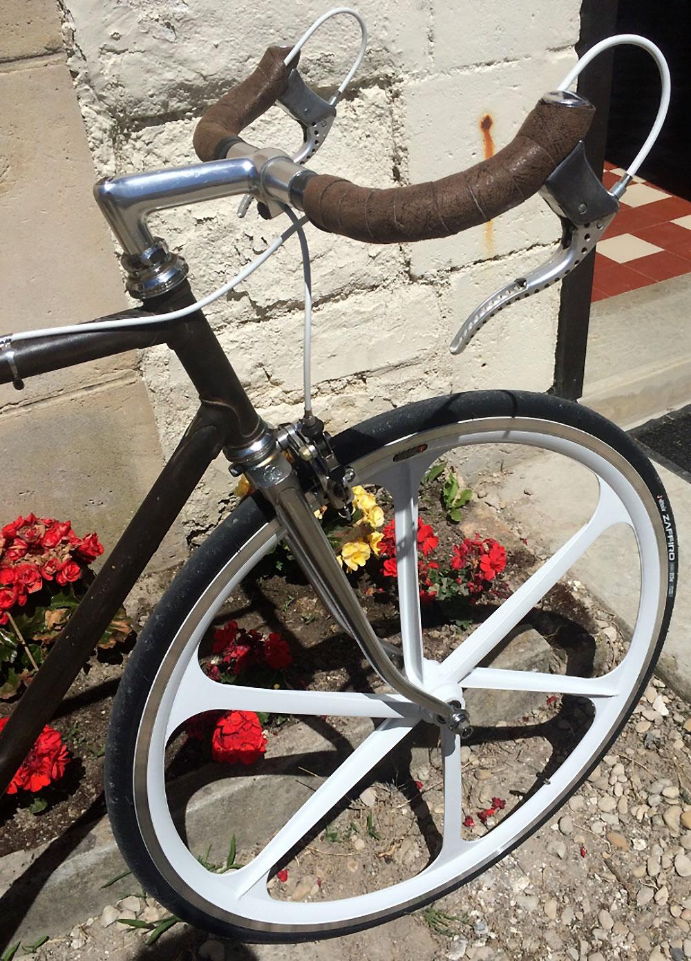 Vélo singlespeed de Christophe sur une base de Cinelli
