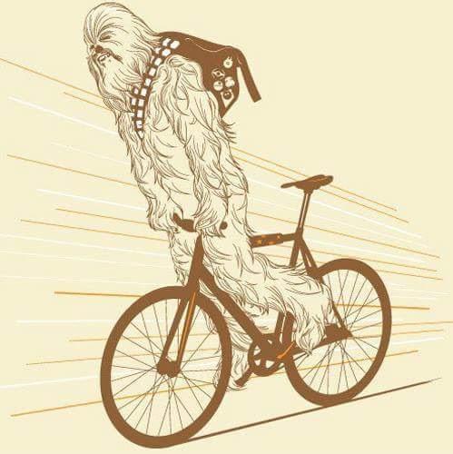 Les héros de Star Wars sur des vélos, vus par des artistes